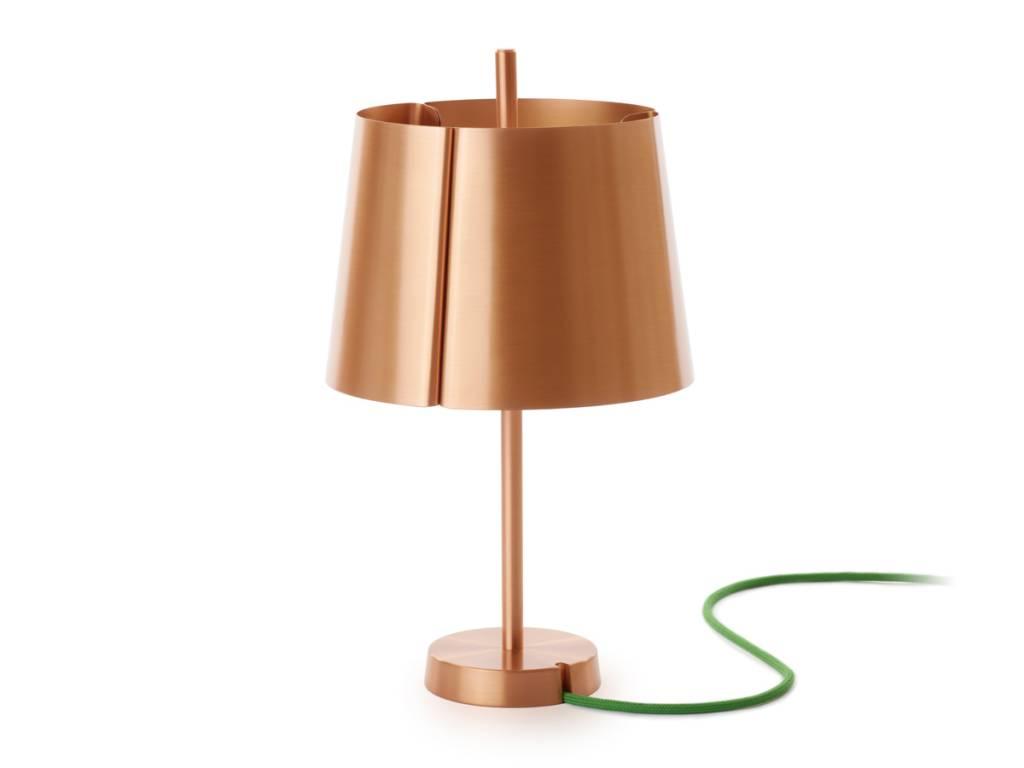 copper table lamp photo - 10