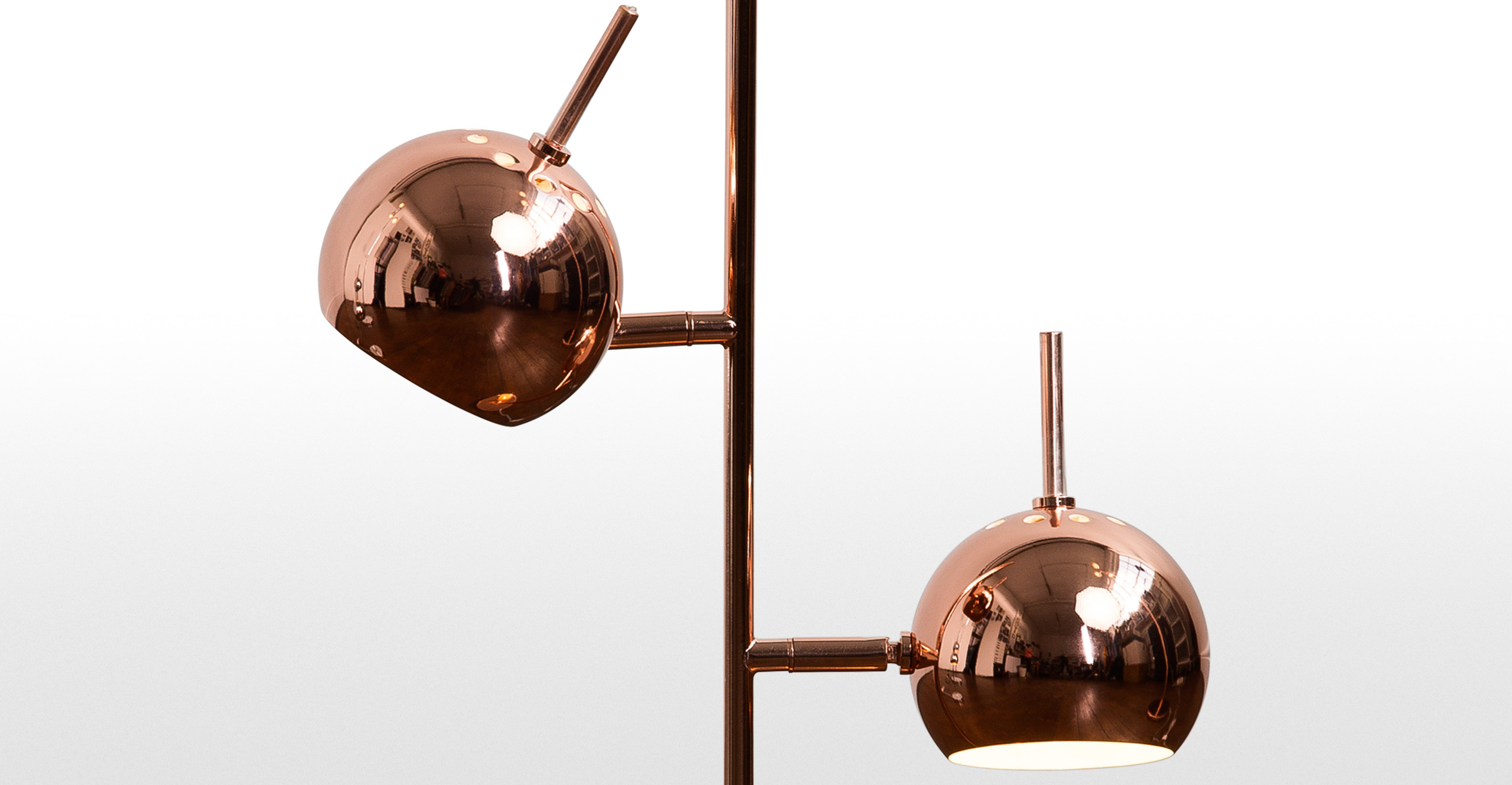 copper table lamp photo - 3