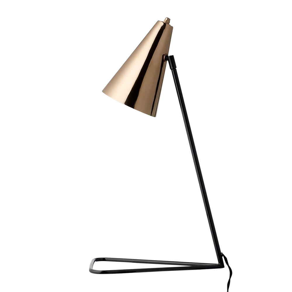 copper table lamp photo - 8