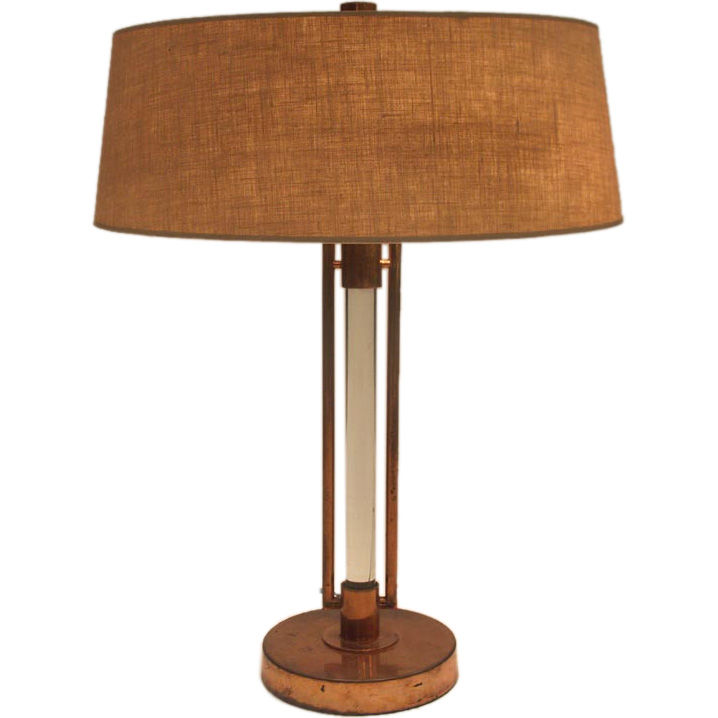 copper table lamp photo - 9