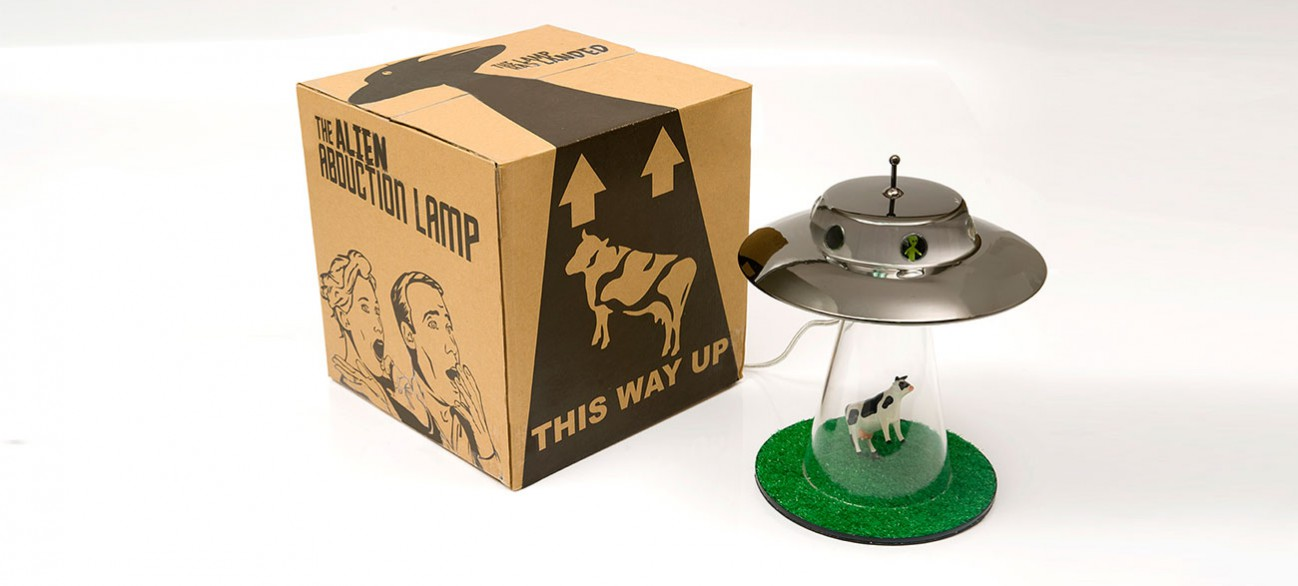 cow abduction lamp photo - 2