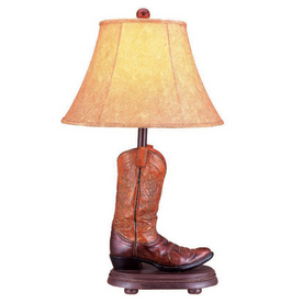 cowboy boot lamp photo - 1