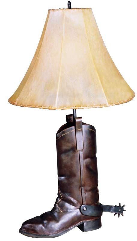 cowboy boot lamp photo - 5