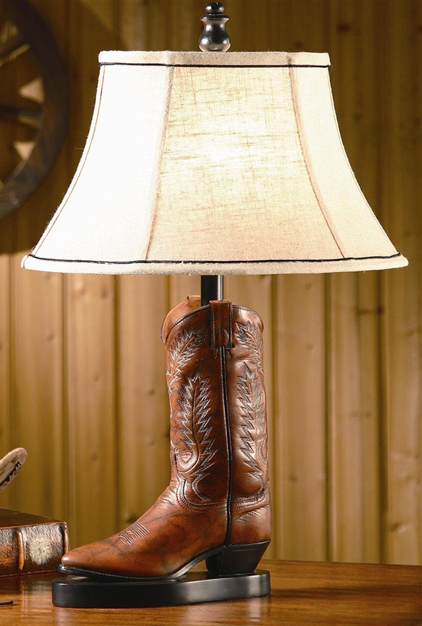 cowboy boot lamp photo - 8