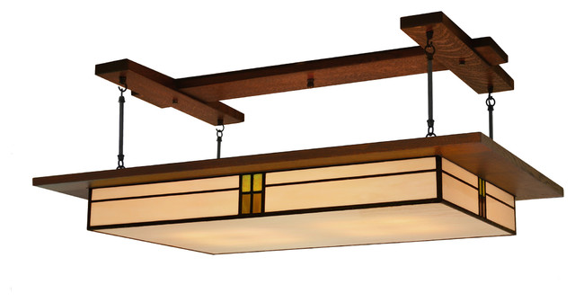 Craftsman style ceiling light illuminate entire rooms with