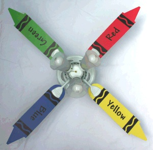 crayola ceiling fan photo - 5
