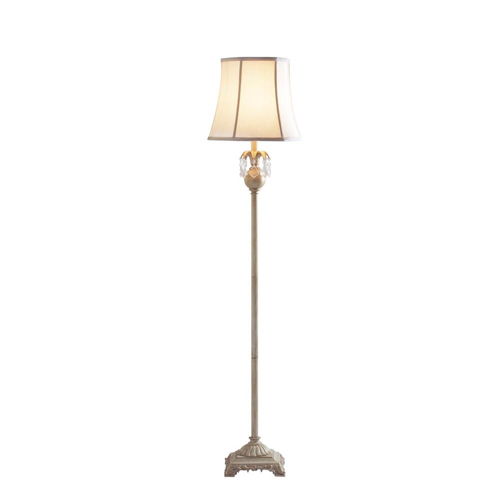 cream floor lamp photo - 3