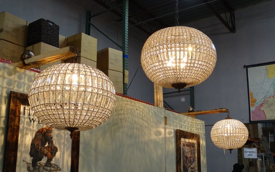 crystal ball lamps photo - 2