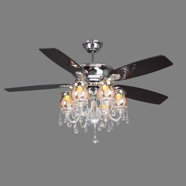 crystal ceiling fan light photo - 1