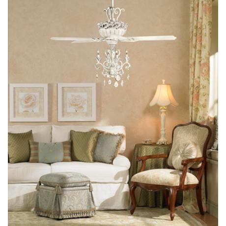 crystal ceiling fan light photo - 6