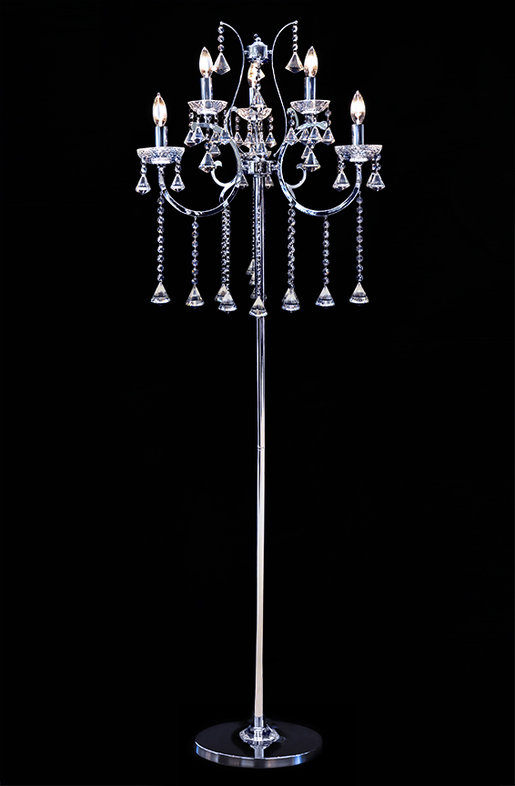 crystal chandelier floor lamp photo - 1