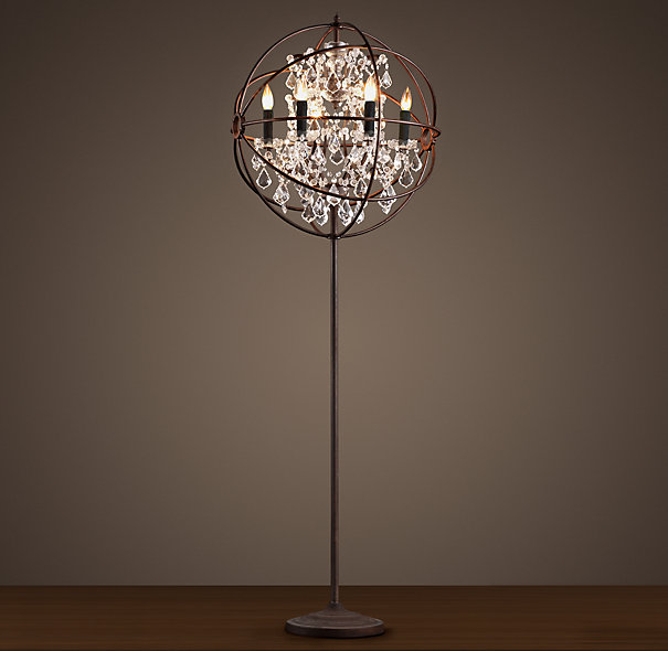 crystal chandelier floor lamp photo - 5