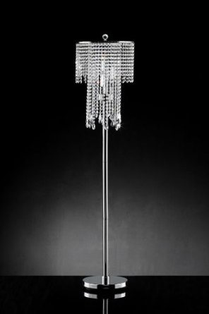 crystal chandelier floor lamp photo - 6