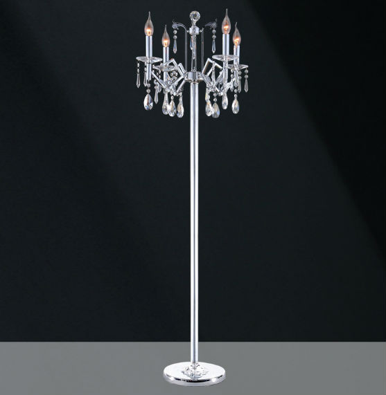 crystal chandelier floor lamp photo - 8