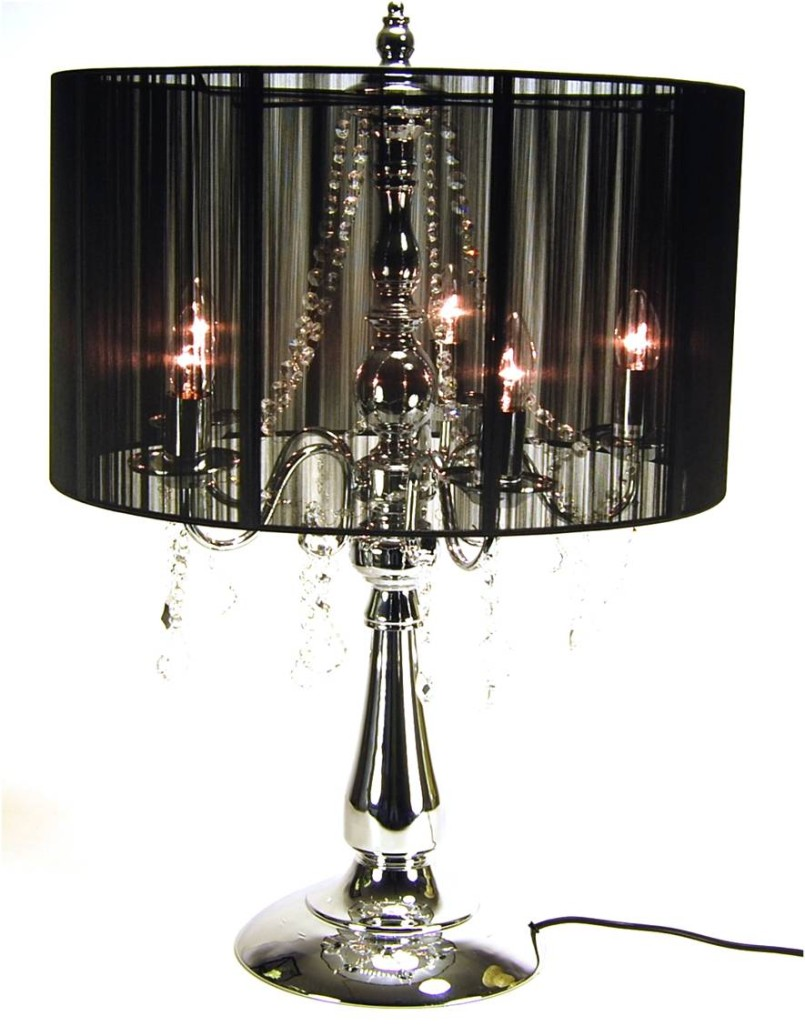 crystal chandelier table lamps photo - 2