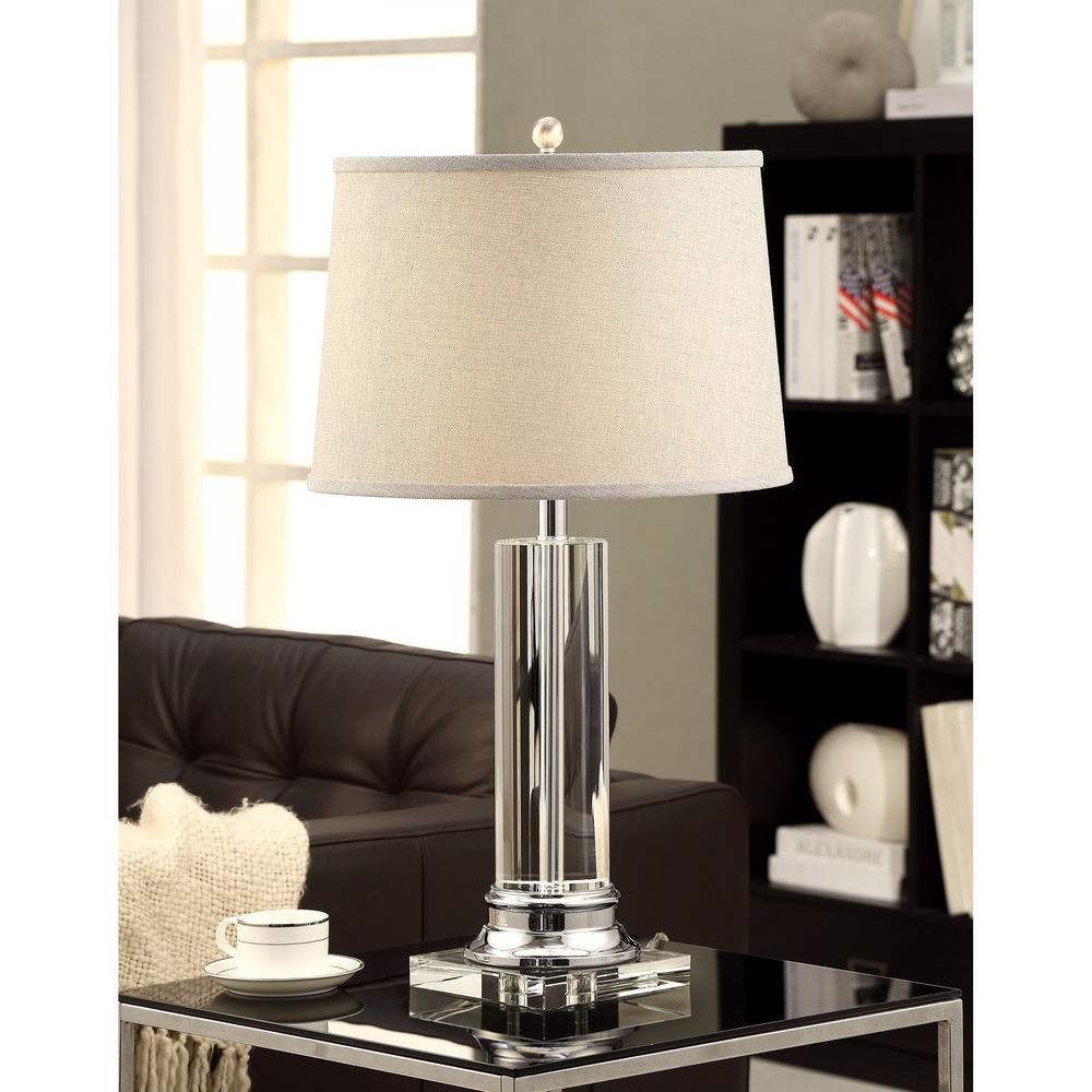 crystal column table lamp photo - 10