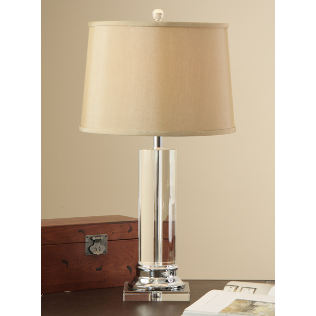 crystal column table lamp photo - 3