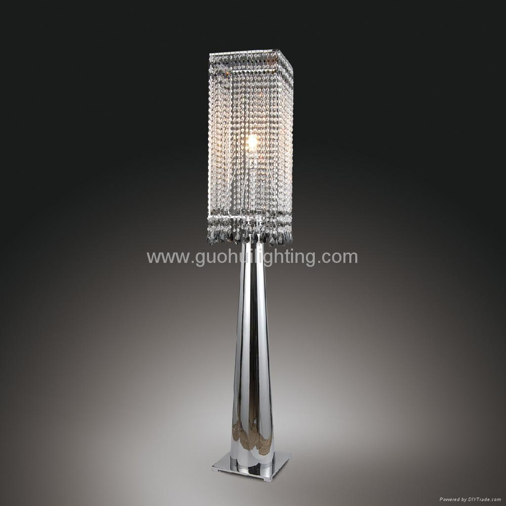 crystal floor lamps photo - 1