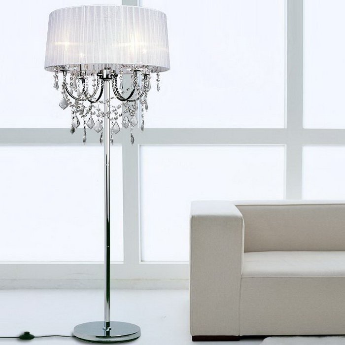 crystal floor lamps photo - 5