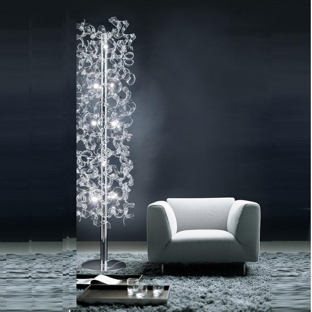 crystal floor lamps photo - 9