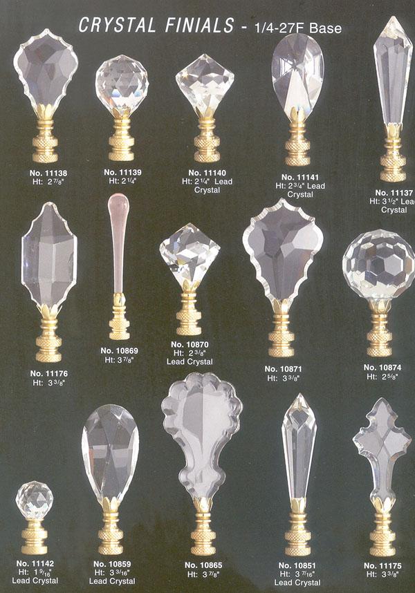 Crystal Lamp Finials Warisan Lighting