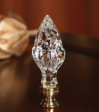 crystal lamp finials photo - 2