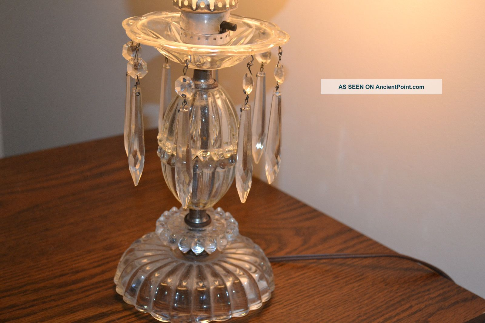 crystal lamps table photo - 4