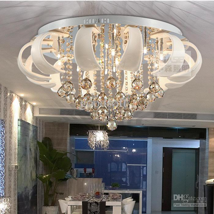 crystal pendant ceiling lights photo - 8