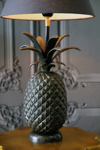 crystal pineapple lamp photo - 9