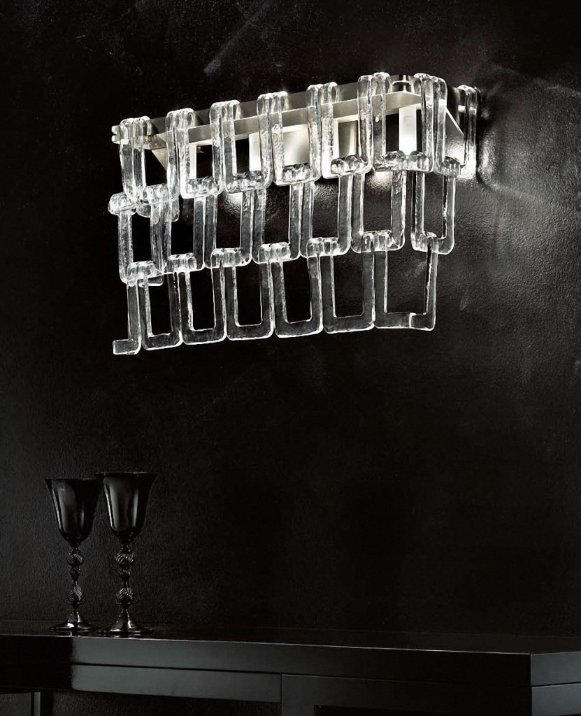 crystal wall lamp photo - 6
