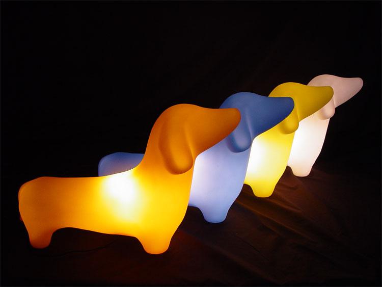 dachshund lamp photo - 2