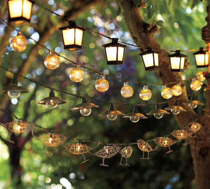 decorative outdoor string lights photo - 5