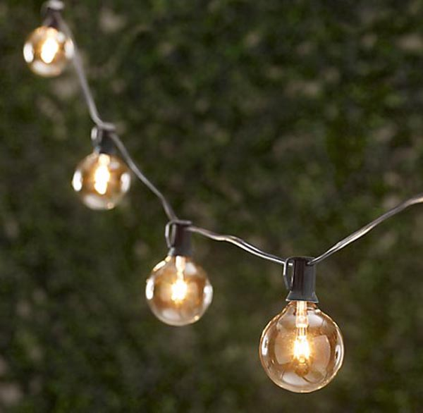 decorative outdoor string lights photo - 6