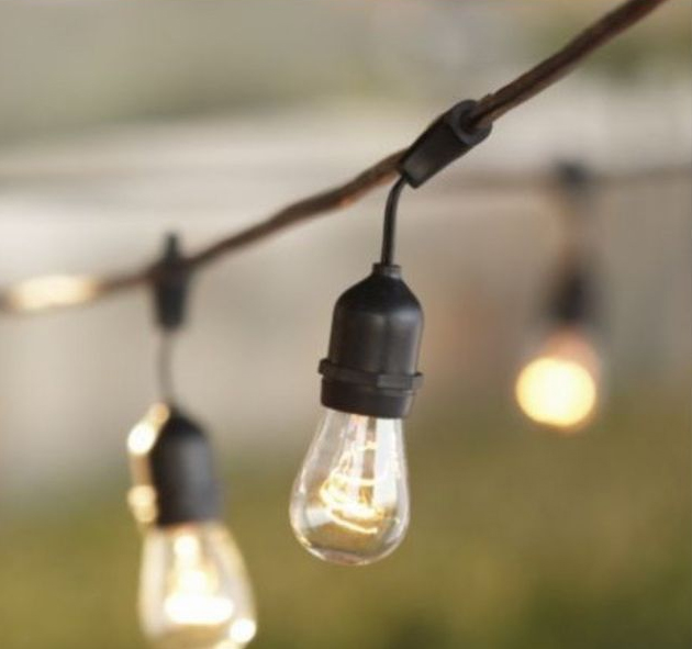 decorative outdoor string lights photo - 8