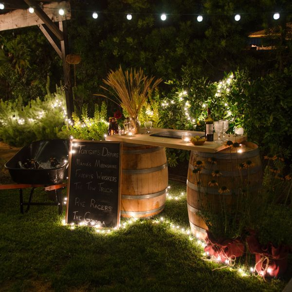 decorative string lights outdoor photo - 4