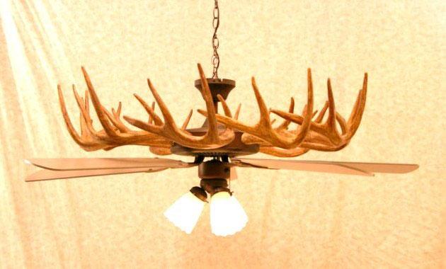 deer antler ceiling fans photo - 2