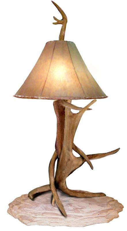 deer antler lamps photo - 6