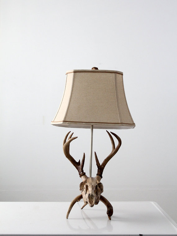 deer head lamp photo - 2