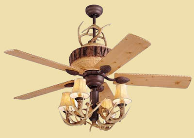 deer horn ceiling fans photo - 4