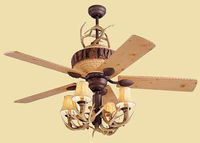 deer horn ceiling fans photo - 4