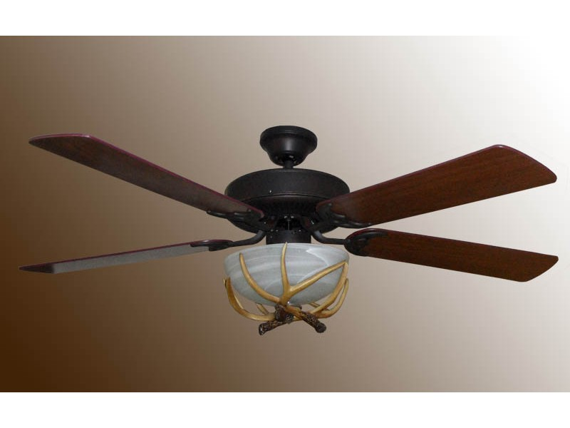 deer horn ceiling fans photo - 5