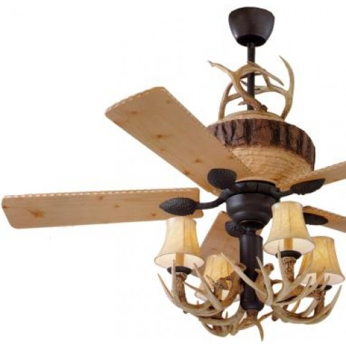 deer horn ceiling fans photo - 8