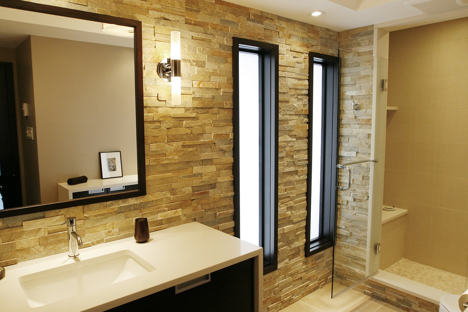 designer bathroom wall lights photo - 3