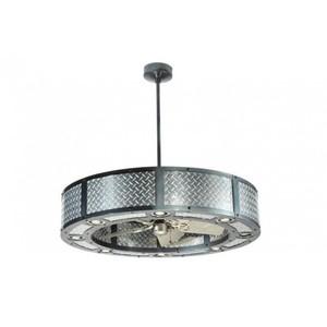 diamond plate ceiling fan photo - 1