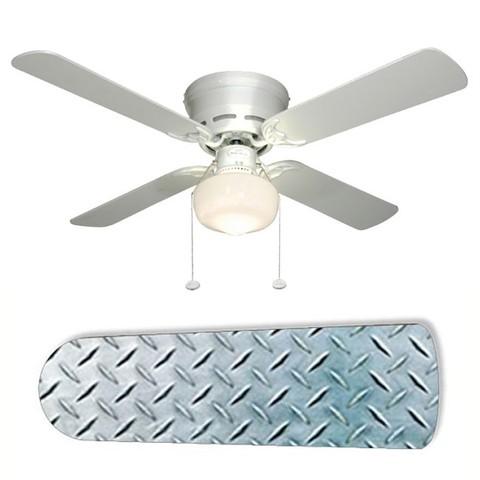 diamond plate ceiling fan photo - 3
