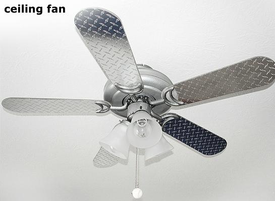 diamond plate ceiling fan photo - 5
