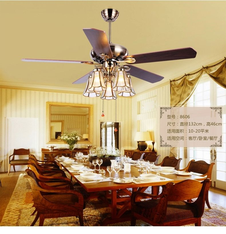 Dining room ceiling fans Warisan Lighting