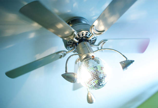 disco ball ceiling fan photo - 4