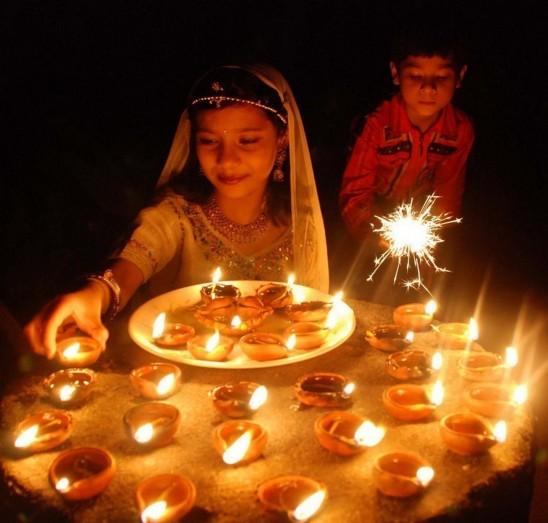 diwali lamps photo - 10