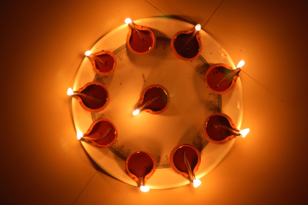 diwali lamps photo - 5